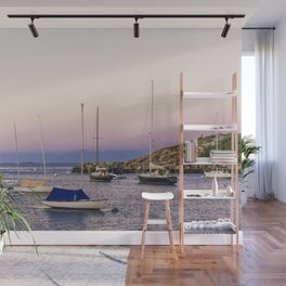 Earth's shadow over the harbor Wall Mural