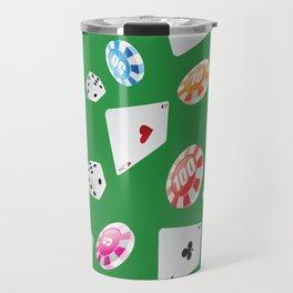 #casino #games #accessories #pattern 4 Travel Mug