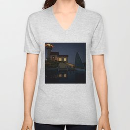 Tiny Lighthouse Unisex V-Neck