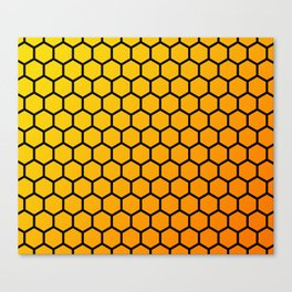 Yellow and orange honeycomb pattern Canvas Print