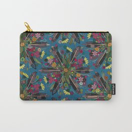 bohemian posy blue Carry-All Pouch