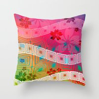 band Throw Pillows featuring hawaii band by Norma Lindsay