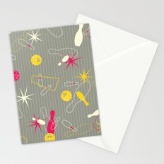Bowling Pinstripe Stationery Cards