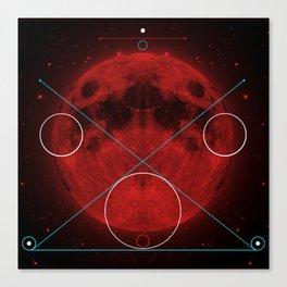 Red Moon Graphish. Canvas Print