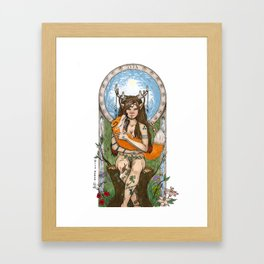Wild Woman, Lady of Nature Framed Art Print