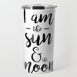 I am the Sun & the Moon Travel Mug