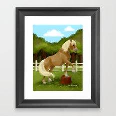 Trick Horse Framed Art Print
