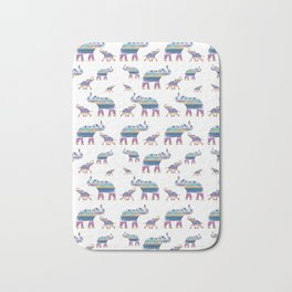 Elephant Tribal Pattern Bath Mat