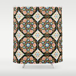 Millefiori Tile Pattern Shower Curtain