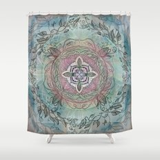 the four directions, a medicine wheel Shower Curtain
