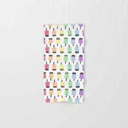 Rainbow Watercolor Bubble Tea Hand & Bath Towel