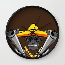 Gibbon Desperado with Guns Wall Clock