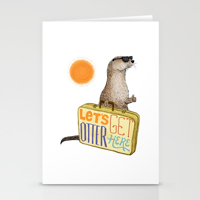 Let's Get Otter Here! Stationery Cards