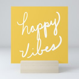Happy Vibes Yellow Mini Art Print