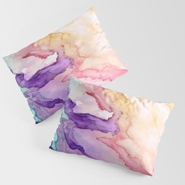 Color My World Watercolor Abstract Painting Pillow Sham