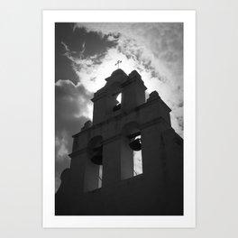 Bell Tower Mission San Juan Capistrano Art Print