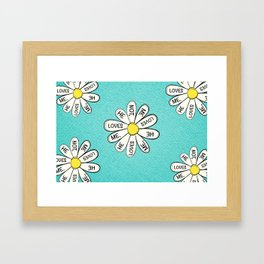 He loves me, he loves me not Framed Art Print