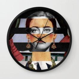 Frida Kahlo's Self Portrait Time Flies & Joan Crawford Wall Clock