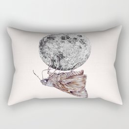 In which a moth is enticed by the light of the moon Rectangular Pillow