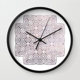Ethnic pattern geometric Wall Clock