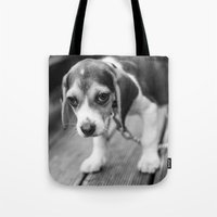 puppy Tote Bags featuring Puppy! by Clayton Jones