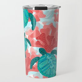 Sea Turtles in The Coral - Ocean Beach Marine Travel Mug