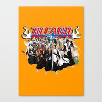 bleach Canvas Prints featuring TOGETHER BLEACH by feimyconcepts05