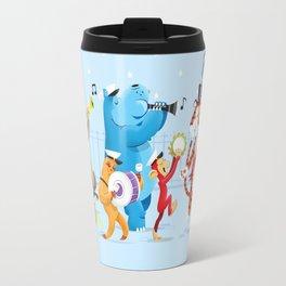 The Sleepy Animals Band Travel Mug