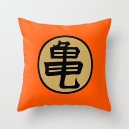 Kame kanji Throw Pillow