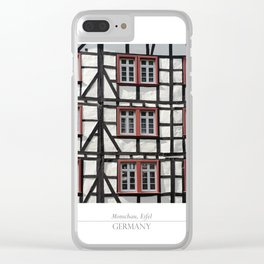 City of Monschau, German architecture Clear iPhone Case