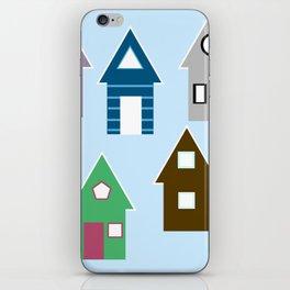 Rainbow Houses iPhone Skin