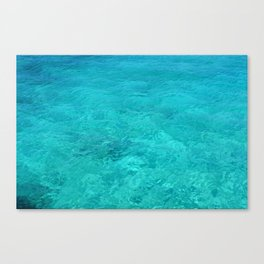Clear Turquoise Water Canvas Print