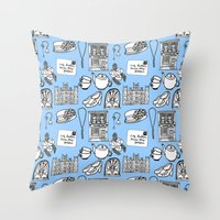 downton abbey Throw Pillows featuring Downton Abbey by Valerie Jauma