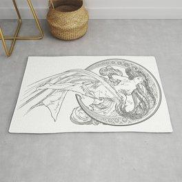 Alphonse Mucha-Dance-Reinterpreted-Art Nouveau Rug