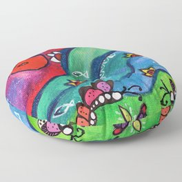 The Holy Confluence Floor Pillow