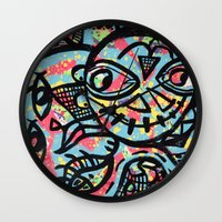 cheshire Wall Clocks featuring Cheshire by Lisa Brown Gallery