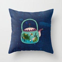 Minhwa: Mint Teapot (Korean traditional/folk art) Throw Pillow