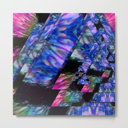 Digital floral triangles Metal Print