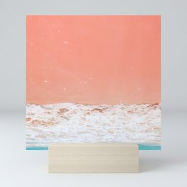 pink sand beach Mini Art Print