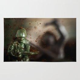 Toy soldiers war Rug