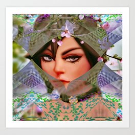 Thinly Cloaked Veil Art Print