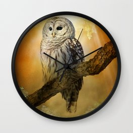 Bathed in light Wall Clock