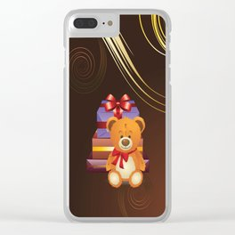 Teddy bear with gift boxes Clear iPhone Case