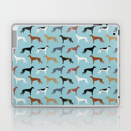 Greyhound Dog pet portrait dog lover must have gifts perfect christmas present for dog person Laptop & iPad Skin