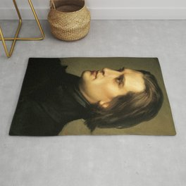 Franz Liszt (1811-1886) at 29. Painting by Charles Laurent Marechal (1801-1887). Rug