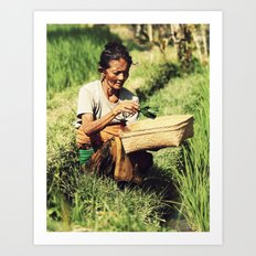 Rice woman Art Print