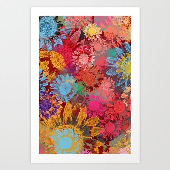 Flower carpet(38). Art Print