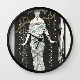Rosalinde Robe du soir (1922) fashion  in high resolution by George Barbier Wall Clock