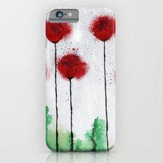 Red Wildflowers Slim Case iPhone 6s