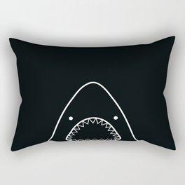 white shark Rectangular Pillow